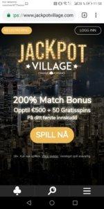 JackpotVillage mobilcasino