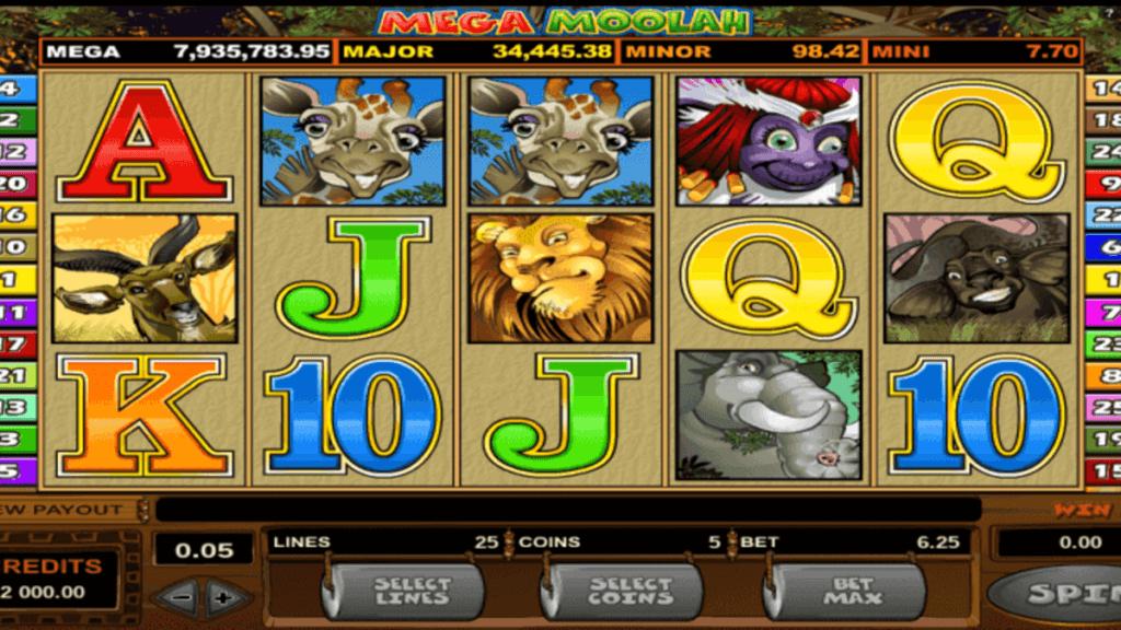 Mega Moolah spilleautomat