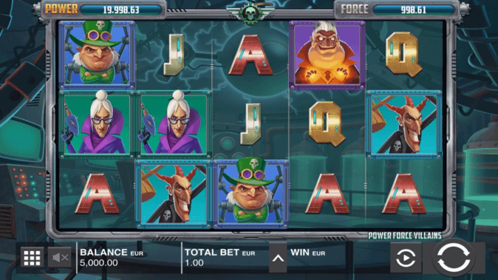 Power Force Villains spilleautomat