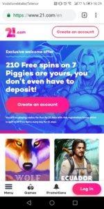 21com Mobile Casino